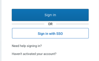 SP sign in page