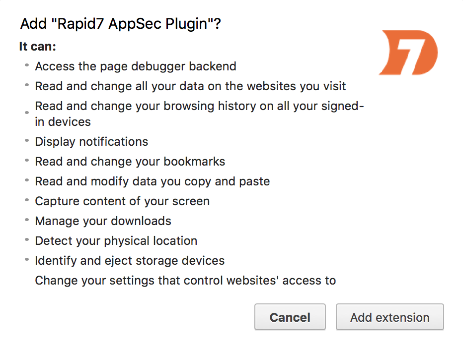 AppSec Chrome Plugin Download
