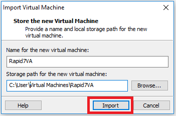 Import Virtual Machine